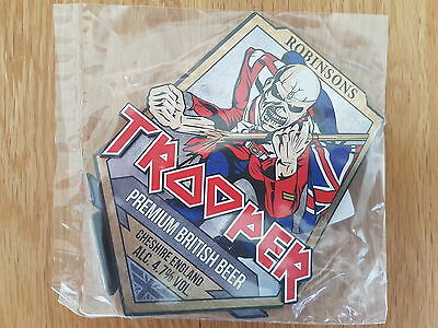 1 x ROBINSONS BREWERY IRON MAIDEN TROOPER PUMP CLIP NEW SEALED & MINT CONDITION