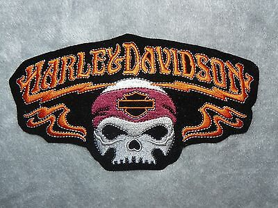 HARLEY DAVIDSON Skull Iron on/ Sew on Patch Biker Motorcycle