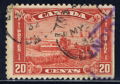Canada #175(10) 1930 20 cent brown red Harvesting Wheat ONT May 1932 CV$2.00