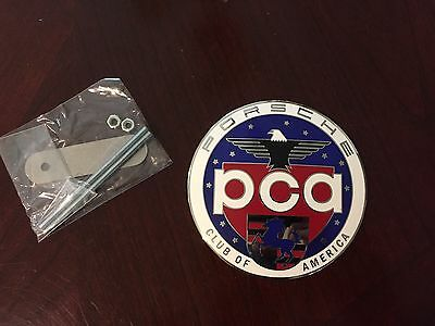 Official Porsche PCA Car Club of America Grill Badge Emblem Hood Ornament