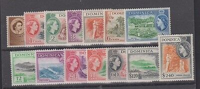 DOMINICA  142-156 Queen Eliz 1954 set mint
