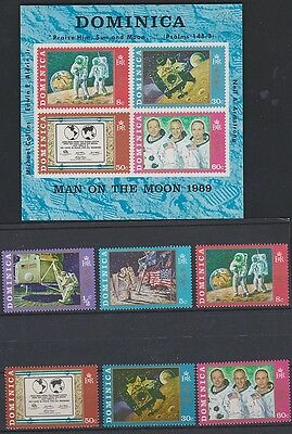 DOMINICA  291-86a Neil Armstrong & space set 1970