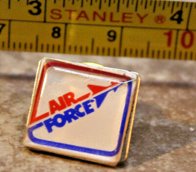 US Air Force Red Blue Square Lapel Pin