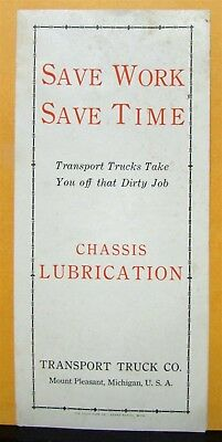 1915 1916 1917 1918 1919 1920 Transport Chassis Lubrication Sales Brochure