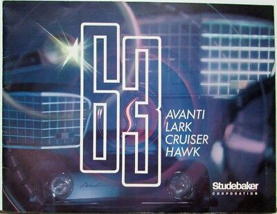 1963 Studebaker Avanti Lark Cruiser Hawk Color Sales Brochure Original