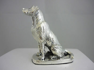 Stunning Hallmarked Sterling Silver Sitting Labrador Statue - New & Boxed