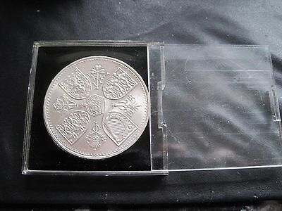 1953 Qe11 Commemorative Coronation Five Shillings Crown Coin In Original Case