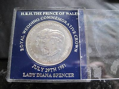 1981 The Royal Wedding Of Prince Charles & Lady Diana Spencer Boxed Crown Coin