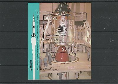 Belize Block 98** - Raumkapsel Apollo 9 mit Aufdruck EXPO '89 (SB1149)