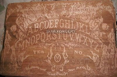 Handcrafted WOODEN Ouija Chopping Board - Kitchen Paranormal Talking Occult NEW