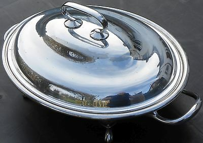 Edwardian Silver Plated Chaffing Dish - Antique - Sheffield
