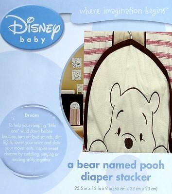 Kidsline Baby A Bear Named Pooh Winnie The Pooh Diaper Stacker Baby Bedding New.