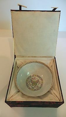 Vintage Chinese Eggshell Porcelain Hand Decorated Butterfly Bowl, Republic Era