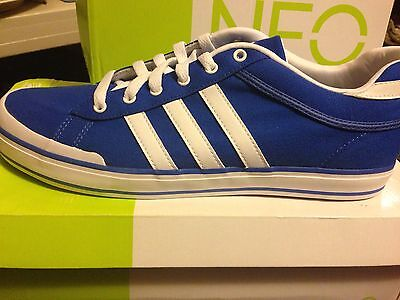 ADIDAS Daily Fresh Lo Canvas Athletic SHOES Mens SIZE 12 Blue White