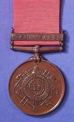BRITISH NATIONAL FIRE BRIGADES ASSOCIATION LONG SERVICE MEDAL w/BAR NAMED AB0478