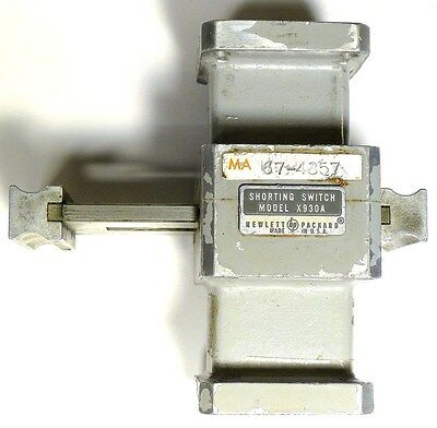 WAVEGUIDE WR-90 SHORTING SWITCH - HP X930A -- *PULLOUT* *EXCELLENT* Qty:1