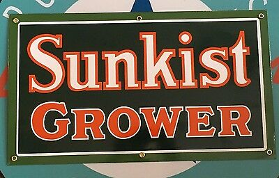 top quality SUNKIST GROWER porcelain coated 18 GAUGE steel SIGN