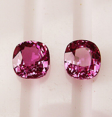 3.43ct!! PINK CEYLON NATURAL SAPPHIRES MATCHING PAIR +CERTIFICATE AVAILABLE