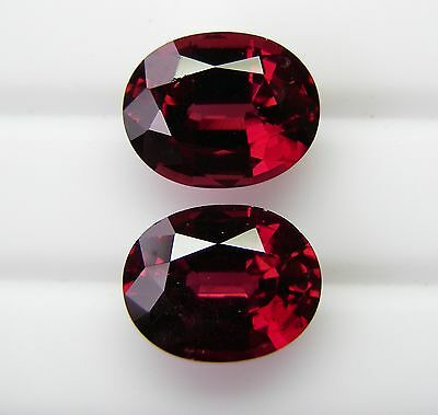 6.51ct!! NATURAL ALMANDINE GARNET MATCHED PAIR EXPERTLY FACETED +CERT AVAILABLE