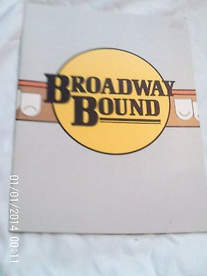"1986 Souvenir Program For ""broadway Bound"" By Neil Simon"