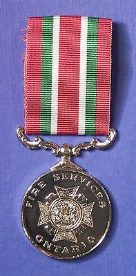 Ontario Canada Fire Services Long Service Medal                           Ab0489