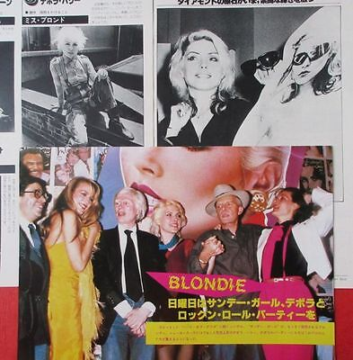 Deborah Harry Blondie 1979 Clipping Japan Magazine U1 P14 3Page