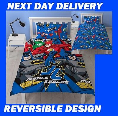 Justice League Batman Dc Comics Superheroes,Single Doona Quilt Duvet Cover Set