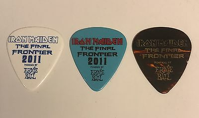Iron Maiden - Guitar Pick Set - 2011 Final Frontier Tour - Dave, Adrian, Janick