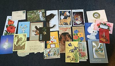 Lot 24 Cards & Letters From Various Friends to Legendary Actress ELSA LANCHESTER
