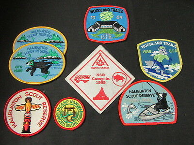 Scouts Canada Scout Camp Lot of 8 Pocket Patches    FX