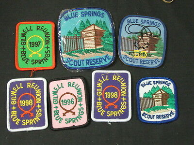 Blue Springs Canada Scout Reserve 6 Patches and Wooden Magnet    FX