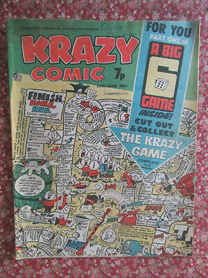 Krazy Comic. 25 June 1977. Fn+ Condition. Part 1 Of Krazy Game Centre Pages.