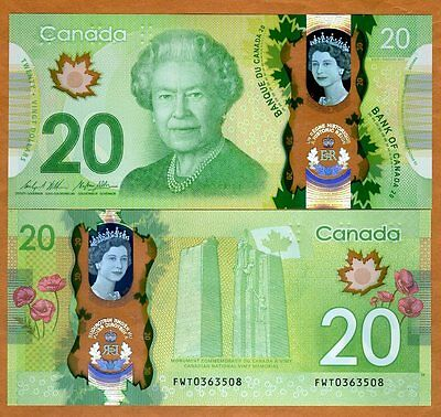 Bank of Canada, $20, 2017, Polymer, P-New, UNC > Commemorative
