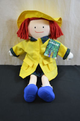 1990 Madeline Plush doll eden toys w/ tag yellow raincoat boots 1510 #18