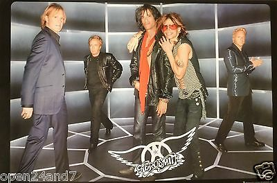 "AEROSMITH ""JUST PUSH PLAY"" 2-SIDED U.S. PROMO POSTER -Group Shot & Album Artwork"
