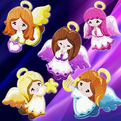 Simple Style Angels 10 Machine Embroidery Designs Cd 2 Sizes
