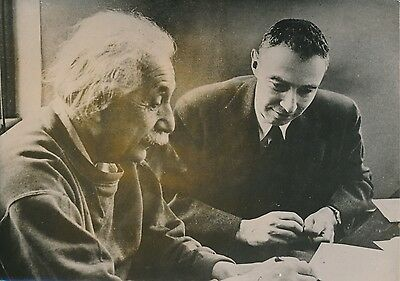 Dr. Oppenheimer - Professeur Einstein 1954 - Physiciens - PR 69