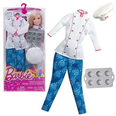 Barbie - Fashion & Accessories Set for Barbie Doll - Clothing Pastry Chef