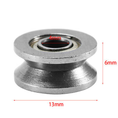 10pcs 4x13x6mm V624ZZ V Groove Guide Pulley Double Shielded Ball Bearings Roller