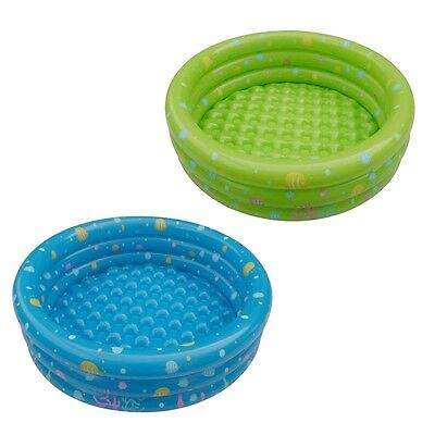 Paddling Pool Baby Toddler Kids Childs 3Ring Small 100cm Inflatable Swimming Fun