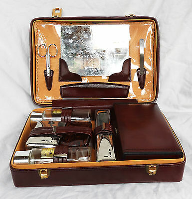 Vintage French Man's Travel Grooming Kit / Toiletry Bag / Wash Kit