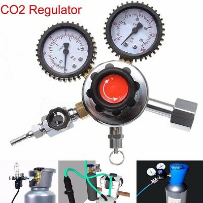 Pro Dual Gauge CO2 Regulator Carbon Dioxide Bar Soda Draft Beer Home Brew Gas