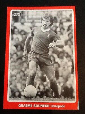 A4 Football action picture/poster GRAEME SOUNESS, Liverpool (B+W)