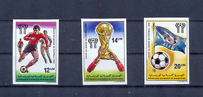 Mauritania 1978 World Cup Soccer Championship set Imperforate MNH VF.