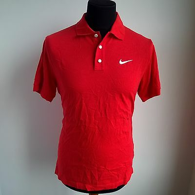 Red Golf Polo Shirt Leisure Tennis Nike Jersey Size Adult M