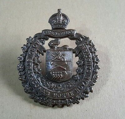 Ww1 Original 'lord Srathcona's Horse Royal Canadians' Cap Badge