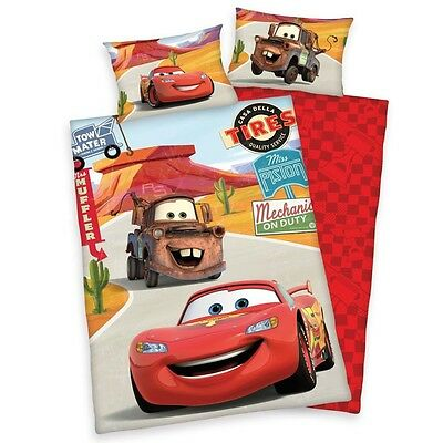 Disney Cars - Reversible Junior Duvet Set 40 / 60 x 100 / 135 cm