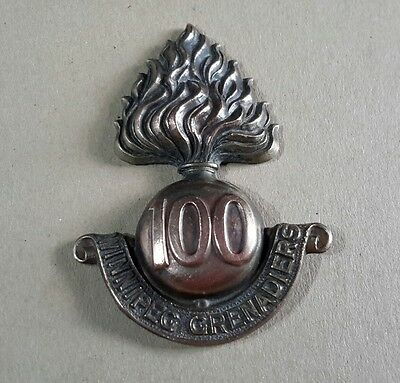 Ww1 Original Canadian '100Th Winnipeg Grenadiers ' Cap Badge