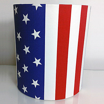 American Flag, Stars and Stripes Fabric Light Shade, USA, New York, Blue, Red