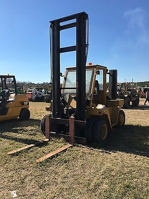 "Wiggins 15000 Lb Cap Diesel Powered Pneumatic Tire Forklift 54"" Forks 17' Lift"